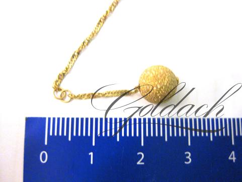 Браслет на ногу красное золото, с подвеской шар