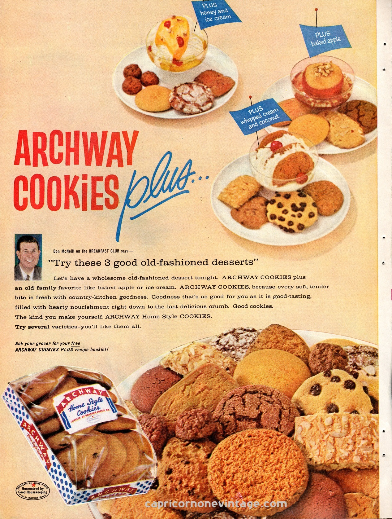 Cookies Magazine Ad Mid Century Advertising Retro Kitchen Decor