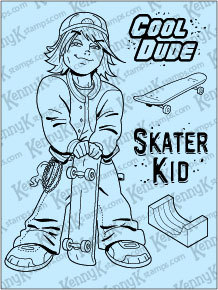 "KennyK ""Ryder Cole"" clear stamp set"