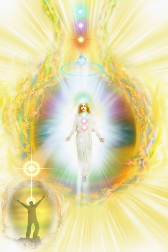A Great Divine Brotherhood Angel, Fine Art Illustration | Spiritual Arts Institute