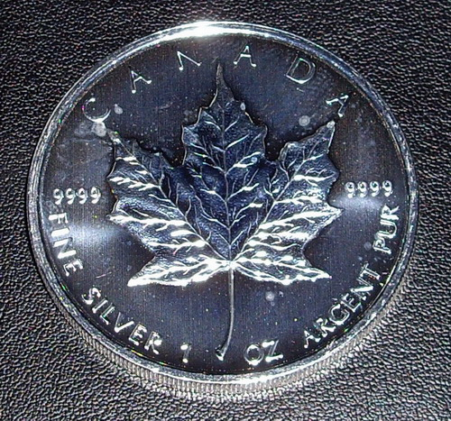 1 x 2011 1oz silver Canadian Maple coin