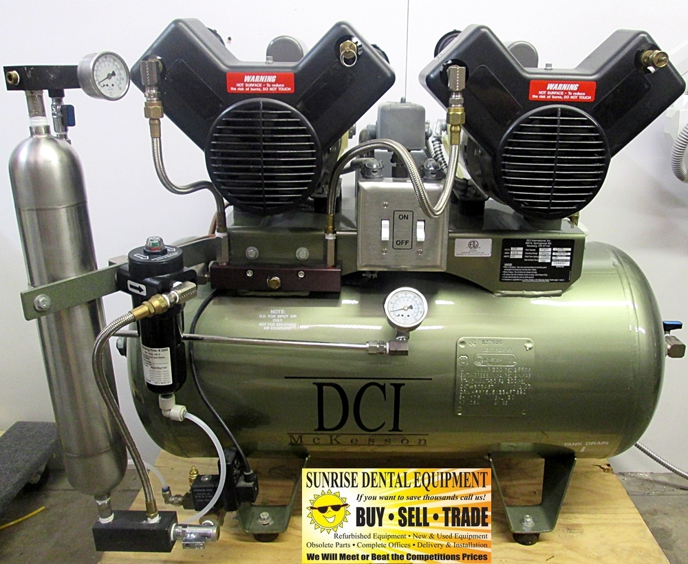 DCI C2206 Dual Head 6 User Oil-Less Air Compressor *Refurbished