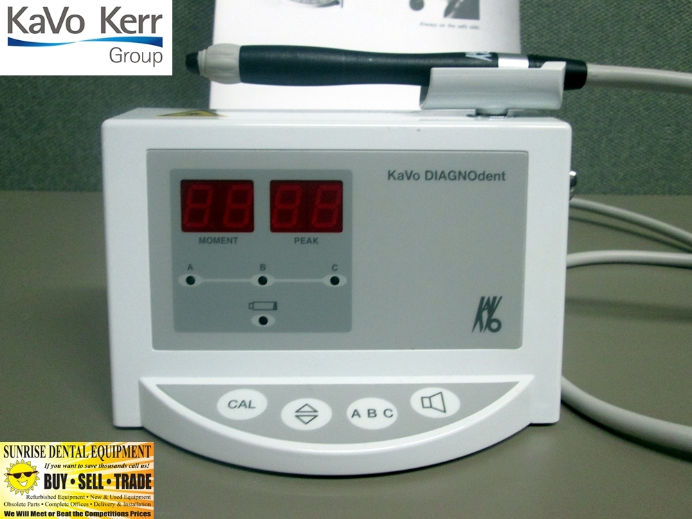 KaVo Diagnodent 2095 Dental Laser Caries Detection Tool, Calibration Disc, 4 Tips *Used