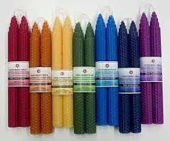 Color Energy Beeswax Candles