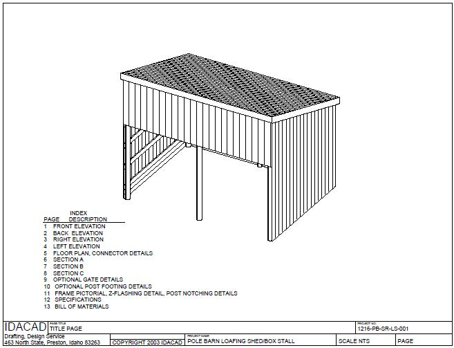 1216 loafingshed pole barns 12 x 16 loafing shed pole barn style price ...