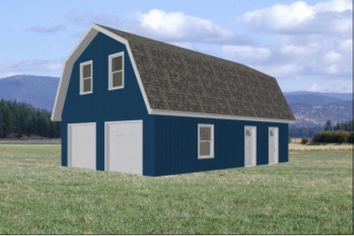 Carport Plans Download Gambrel Roof Pole Barn Plans