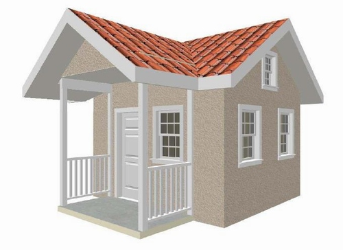 10' x 12' Children Playhouse Plans