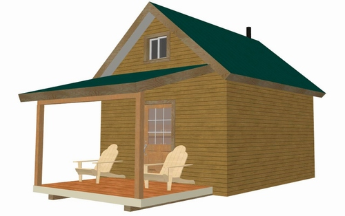 Bunk House Cabin Plan