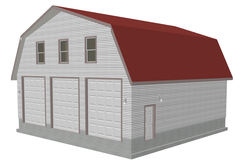 G491 plans 40 x 40 x 12 6 gambrel barn apartment p for 40 x 40 apartment plans