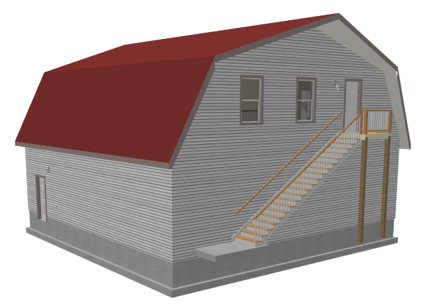 Indoor benches uk gambrel barn plans with apartment g for Gambrel apartment garage plans