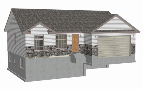 3 Bedroom 2 Bath And 1300 Sq Feet Small Starter Home Plans