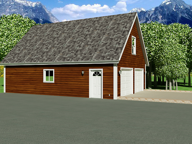 G196 26 39 X 36 39 Garage With Loft Dwg And Pdf Garage Plans