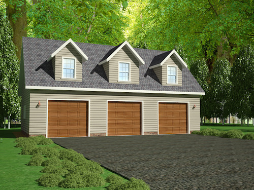 G445 Plans, 48'x28' x 10' detached garage Plans with bonus room