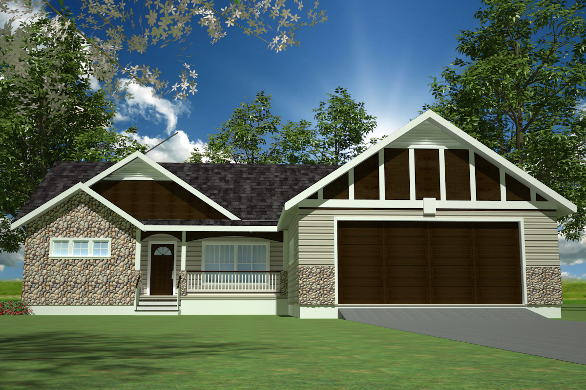 Spec house plans rendering
