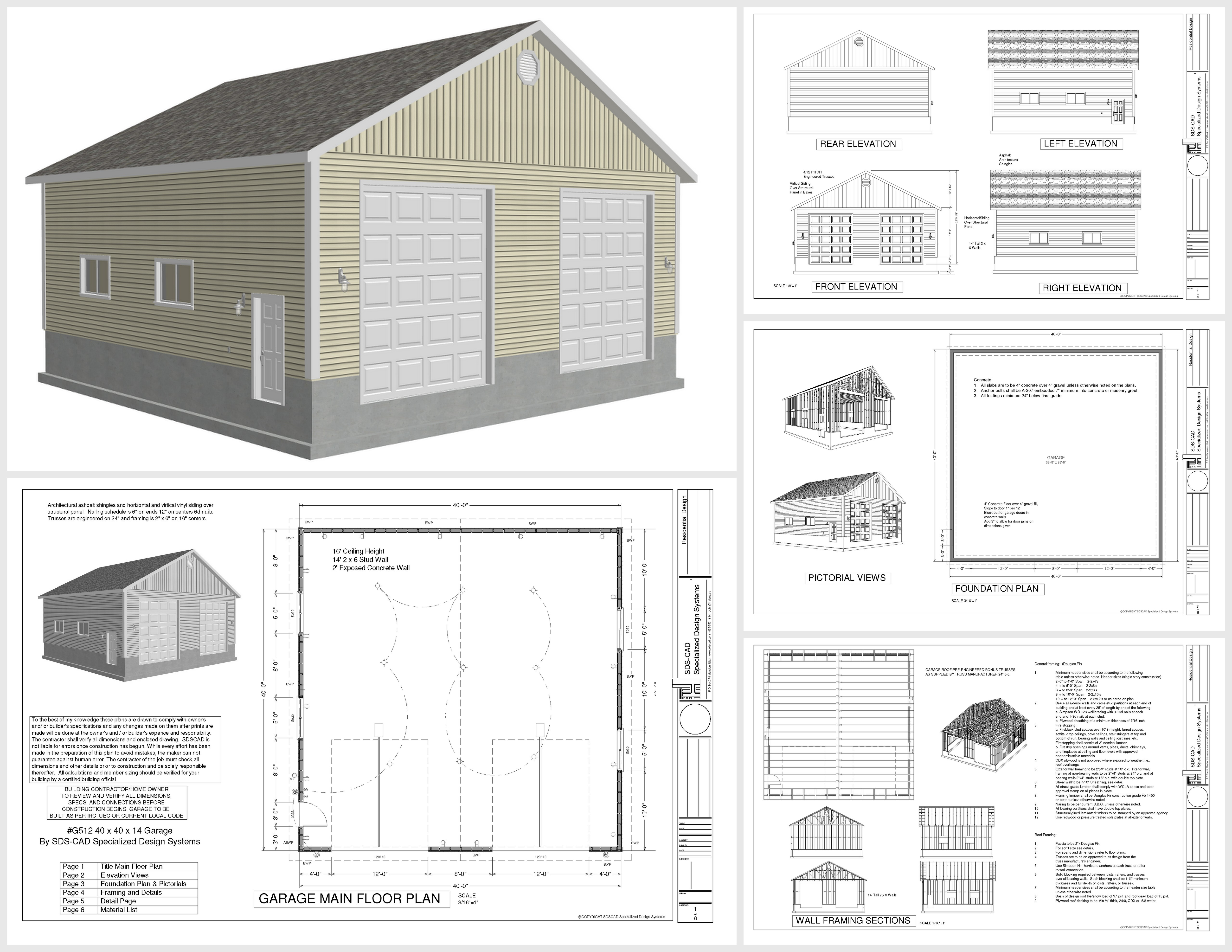 Free garage plans Free garage blueprints
