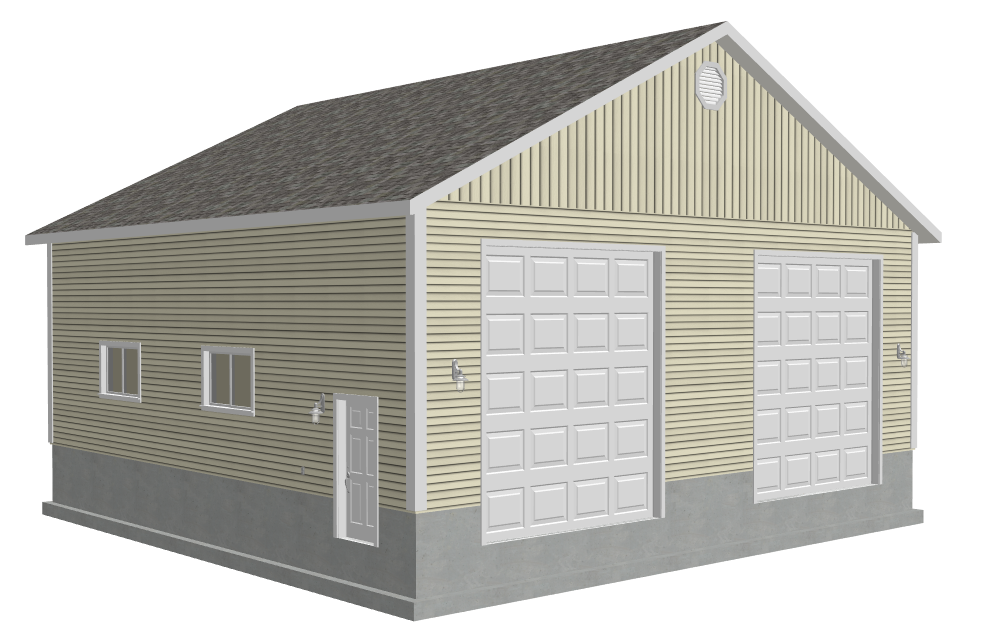 Free garage plans g512 40 x 40 x 14 with 16 39 ceiling for Free garage plans online