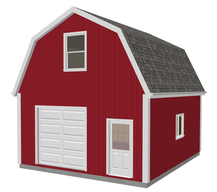 Gambrel Roof Garage Plans