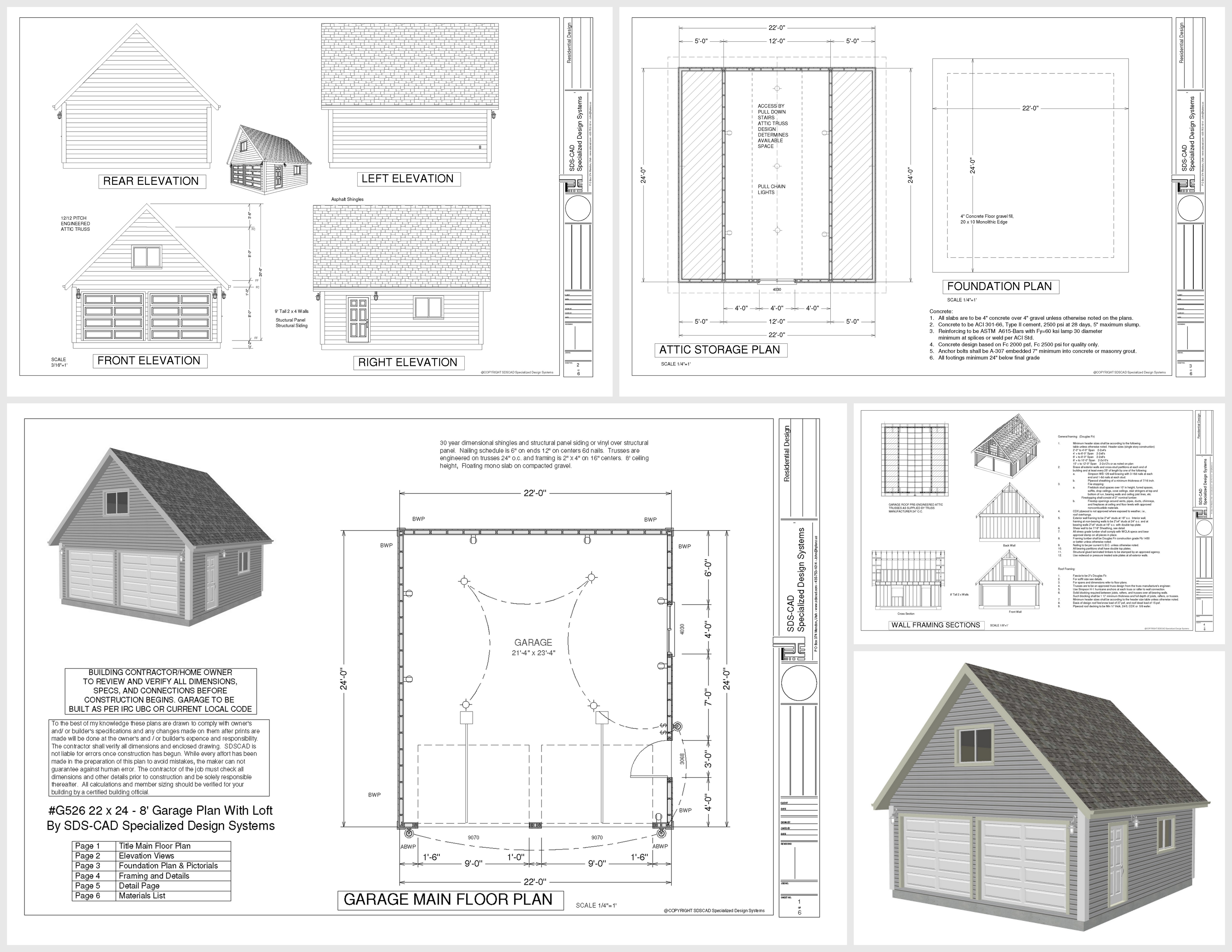 Garage Blueprints Free Download