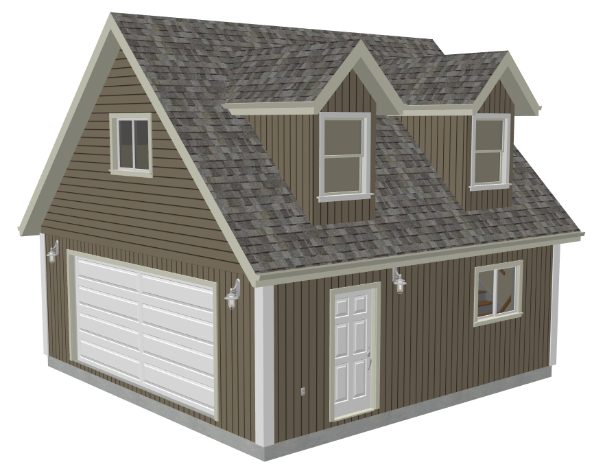 Loft rv garage plans for Lofted garage