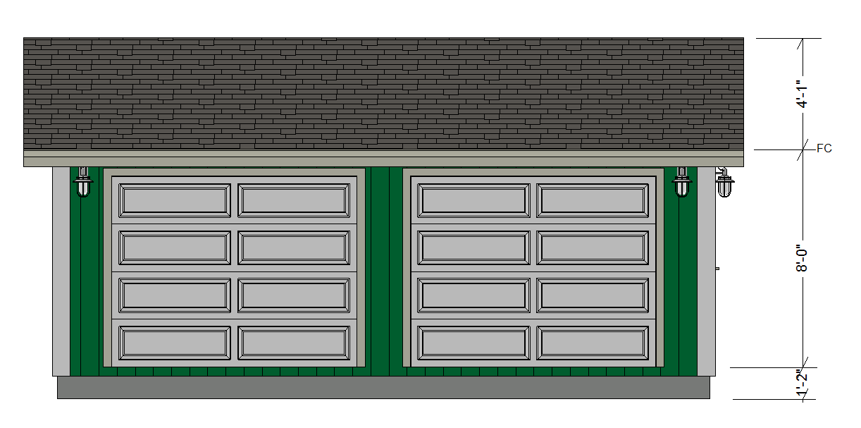 Free garage plans g528 24 x 22 x 8 garage plan pdf and dwg for Apartment plans dwg format