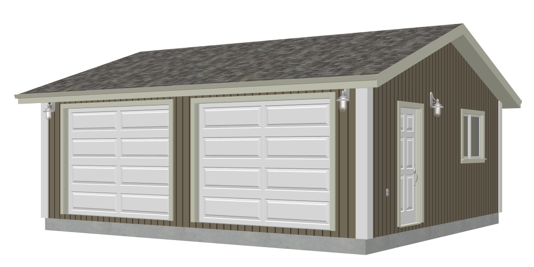 Free garage plans g528 24 x 22 x 8 garage plan pdf and dwg for 8 car garage plans