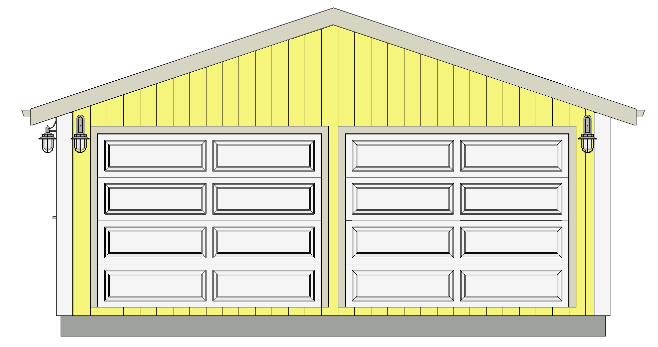 Free garage plans g529 22 x 30 x 8 garage plans dwg and pdf for 50 x 60 garage plans