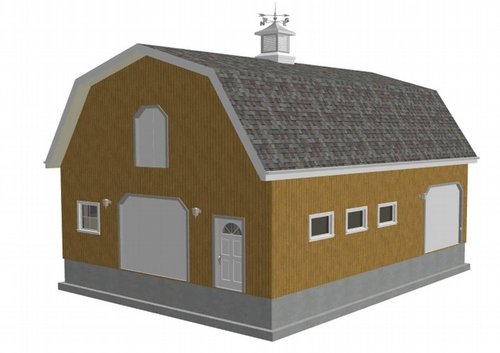 The shedplan 10 x 12 gambrel shed plans 5x10 for Gambrel garage kit
