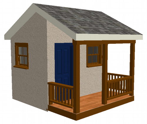 Woodwork child playhouse plans pdf plans for Simple outdoor playhouse plans