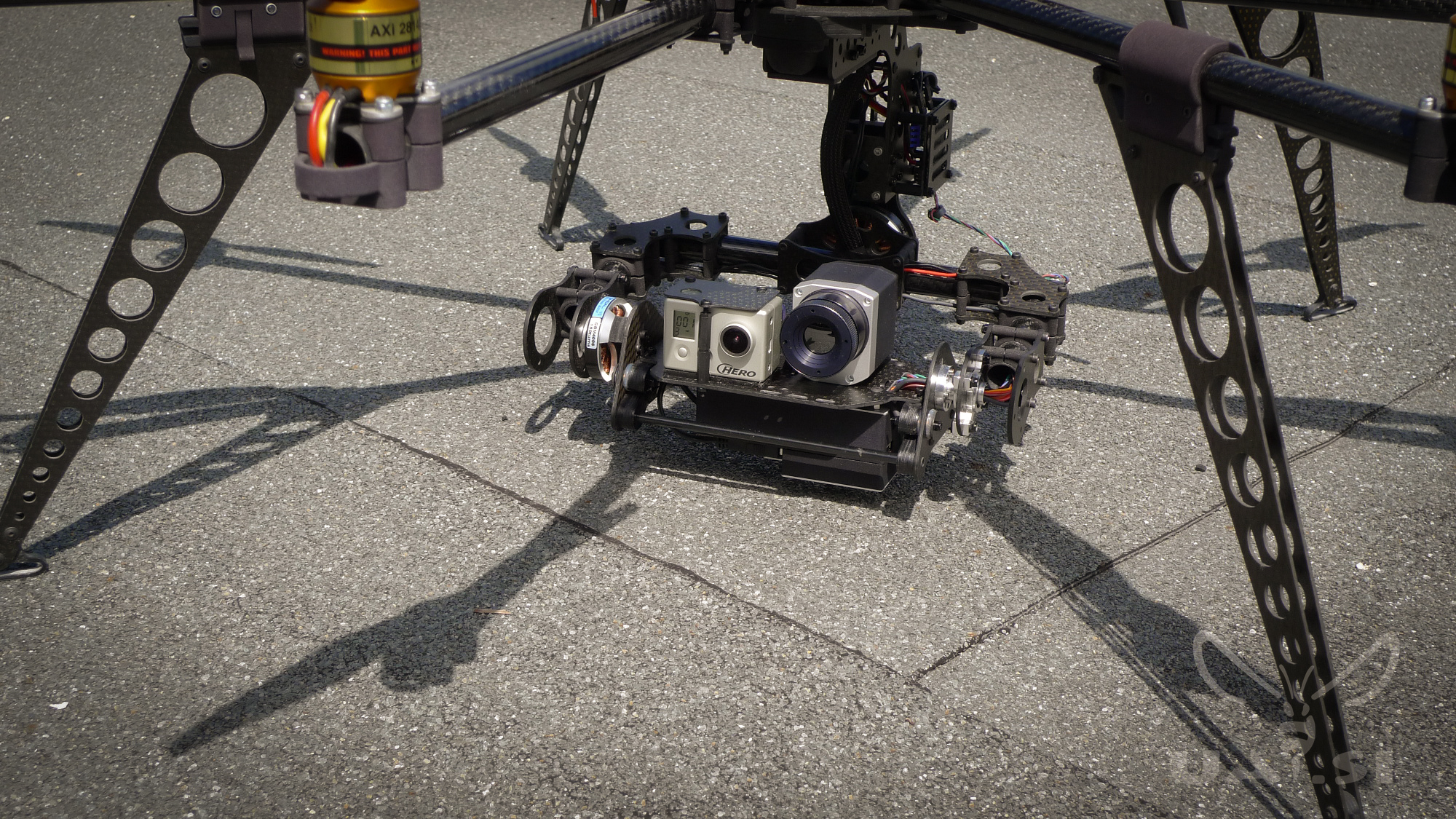 Brushless QTO thermal IR gimbal for optris PI LightWeight