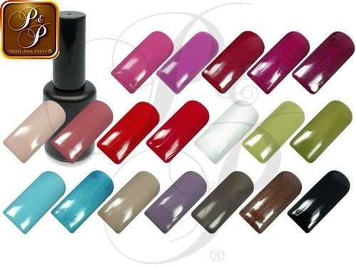 Lot Vernis UV, 5 x 12ml + twin coat 12ml