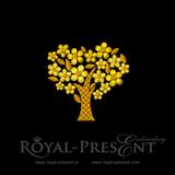 Дизайн для машинной вышивки бесплатно - Золотое дерево удачи