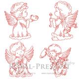 Коллекция дизайнов машинной вышивки - Маленькие Ангелы #3