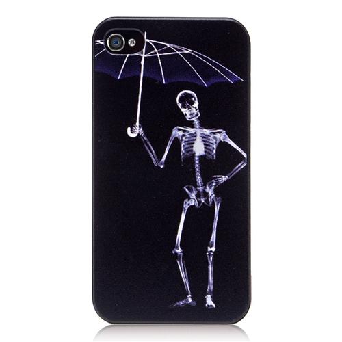 Кейс с текстурой скелет с зонтиком для iPhone 4 & iPhone 4S