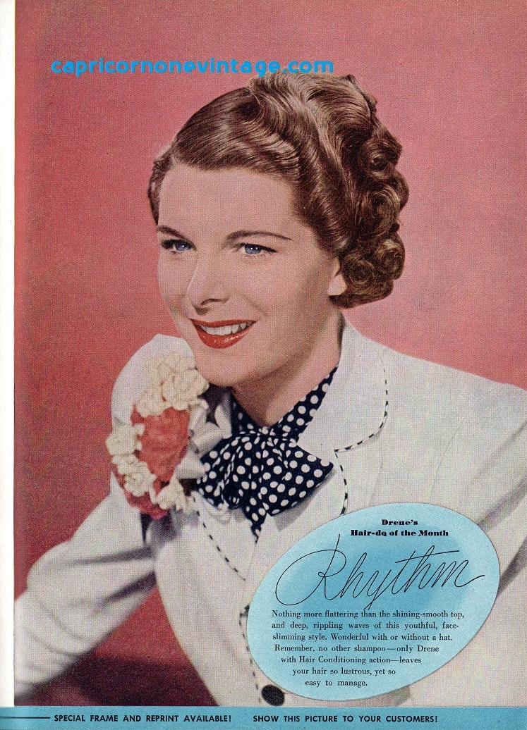 haircut at home vintage april 1946 modern shop magazine hair styles 1946